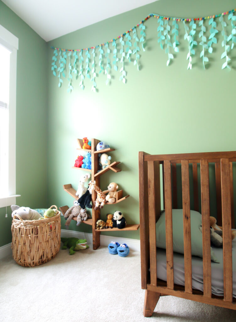 mid century modern crib DIY