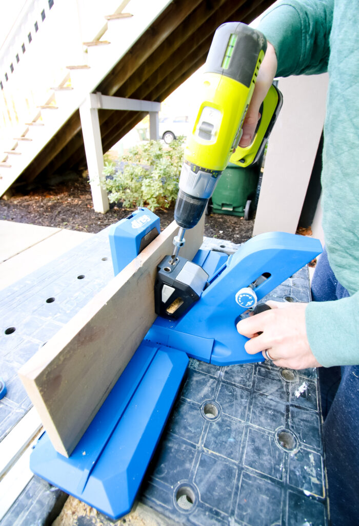Drilling pocket holes with Kreg 720 Pro Docking Stations
