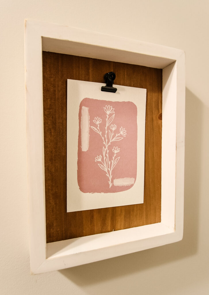 art card and clip frame