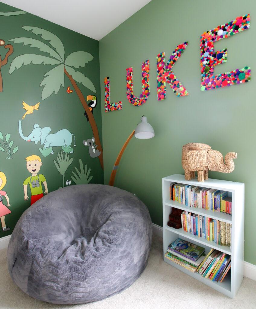 jungle themed kids bedroom