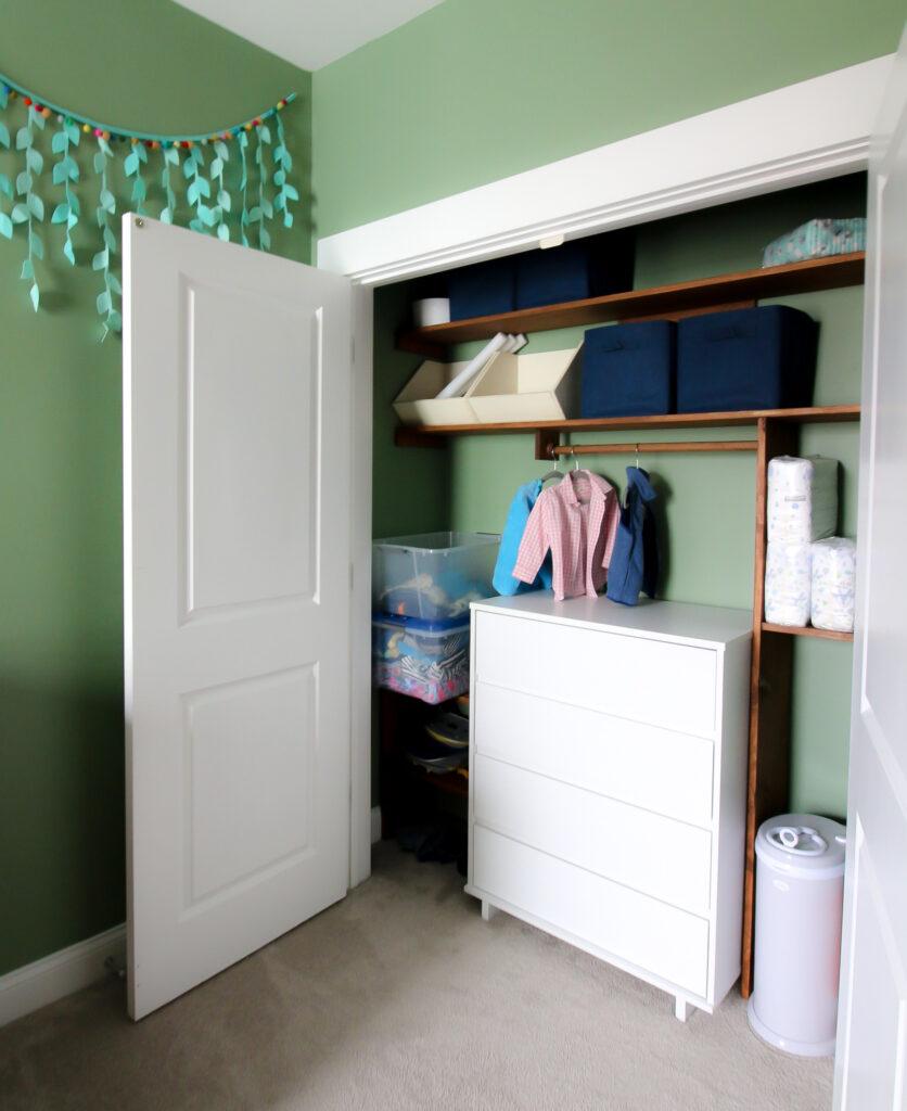 custom toddler wooden closet system