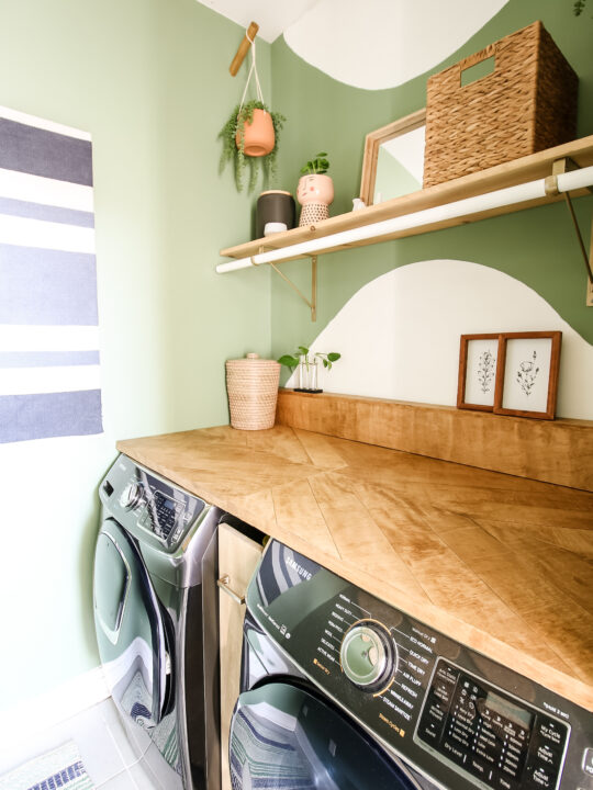 Vertical picture of laundry room