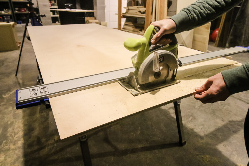 Cutting strips with Kreg Straight Edge Guide