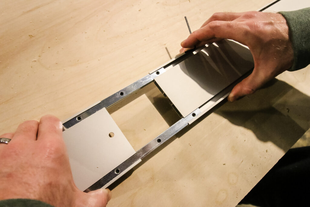 Connecting track pieces of Kreg Straight Edge Guide