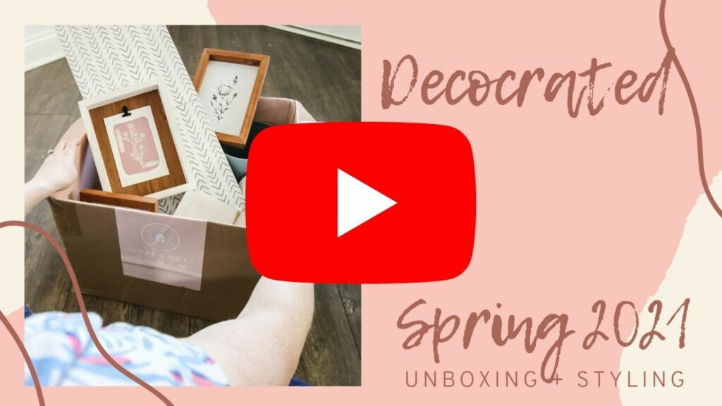 decocrated spring 2021 YouTube Thumbnail for blog