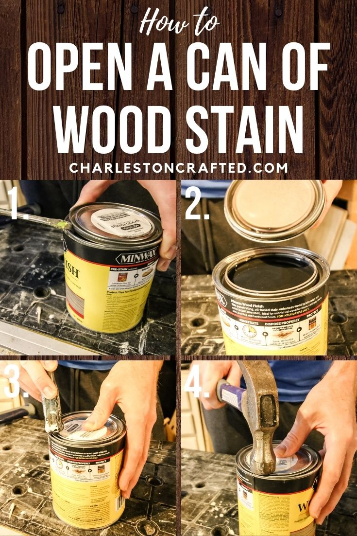 how to open a can of wood stain