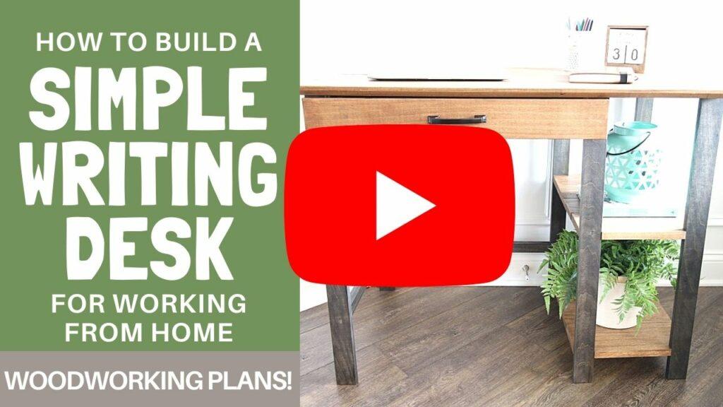 writing desk YouTube Thumbnail for blog