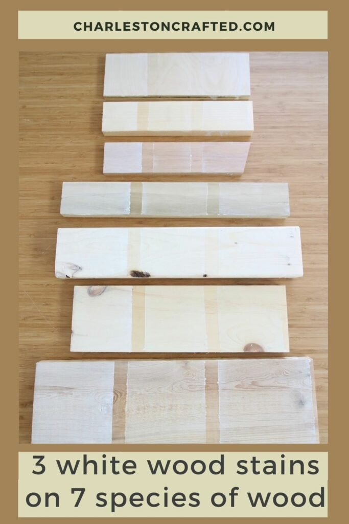 The best white wood stains tested on 7 species of wood