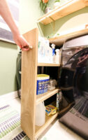 How to build a slim DIY rolling laundry cart