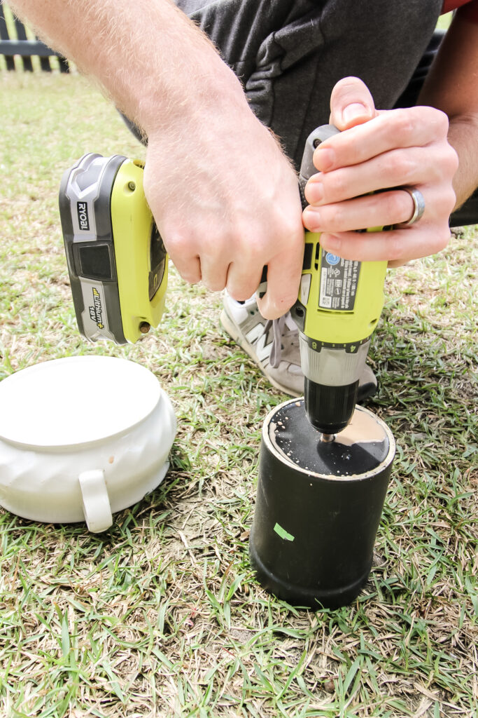 How to drill into a ceramic pot