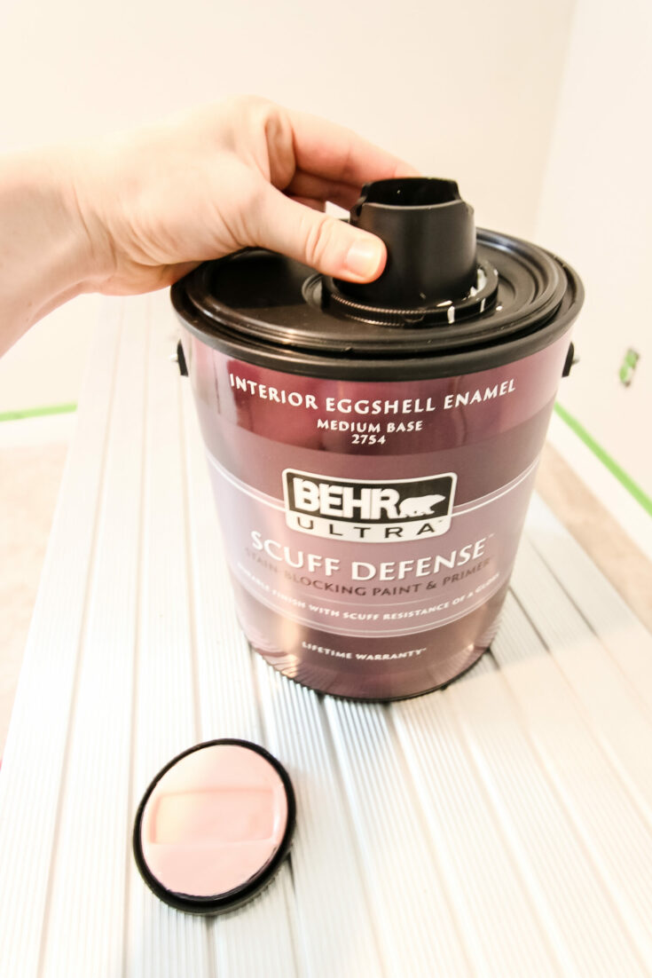 How to open a can of Behr paint