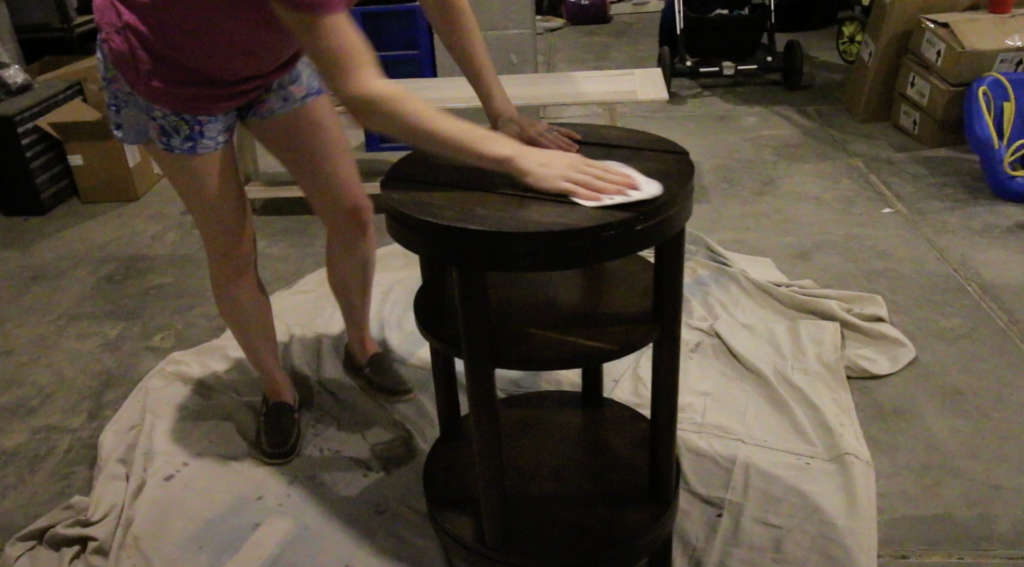 sanding wood furniture prior to adding outdoor sealant