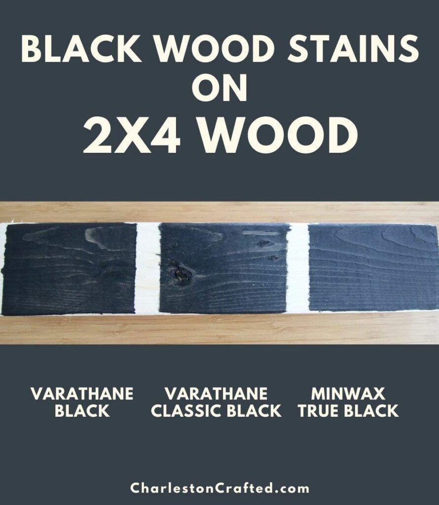 black wood stain 2x4 wood pin