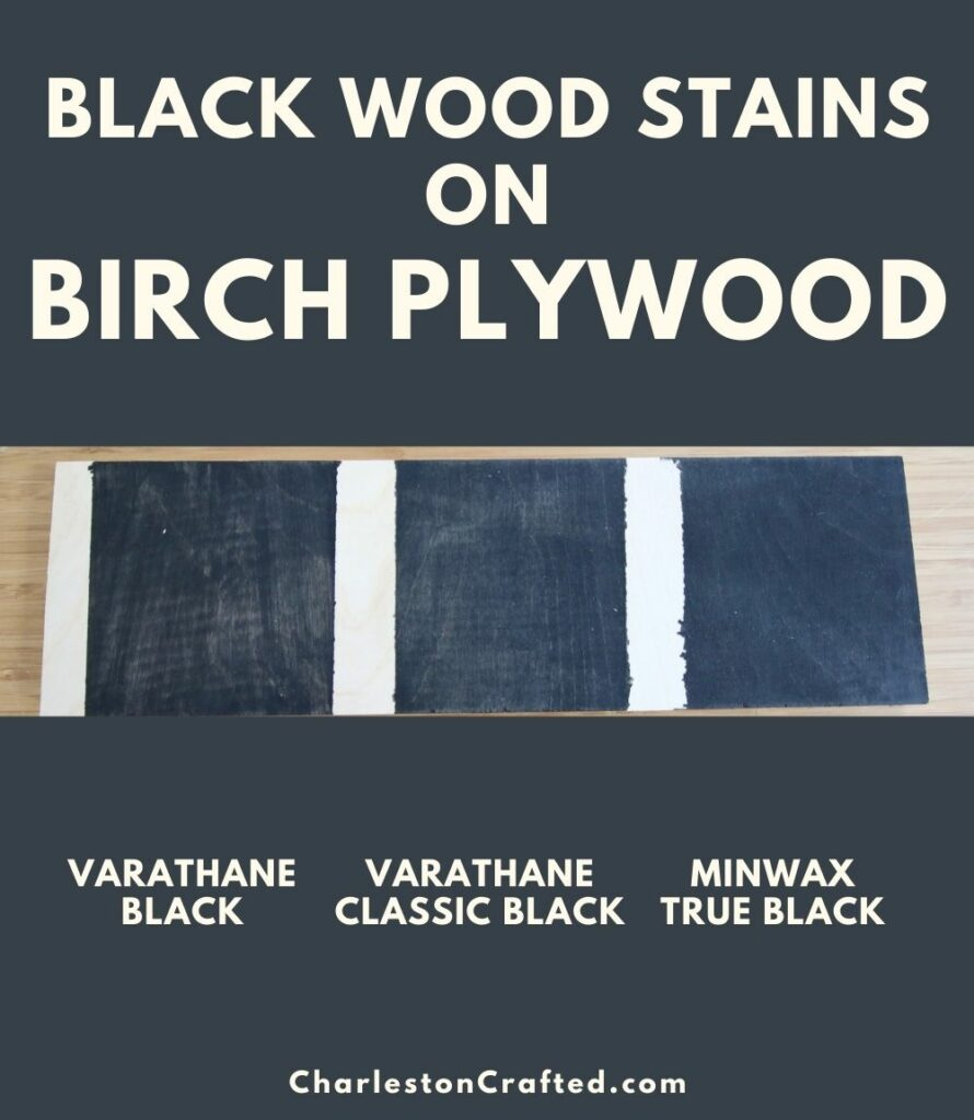 black wood stain birch ply wood pin