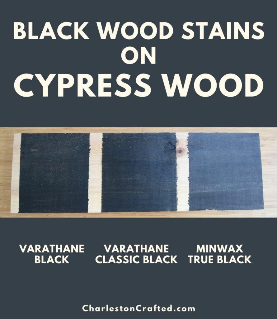 black wood stain cypress wood pin