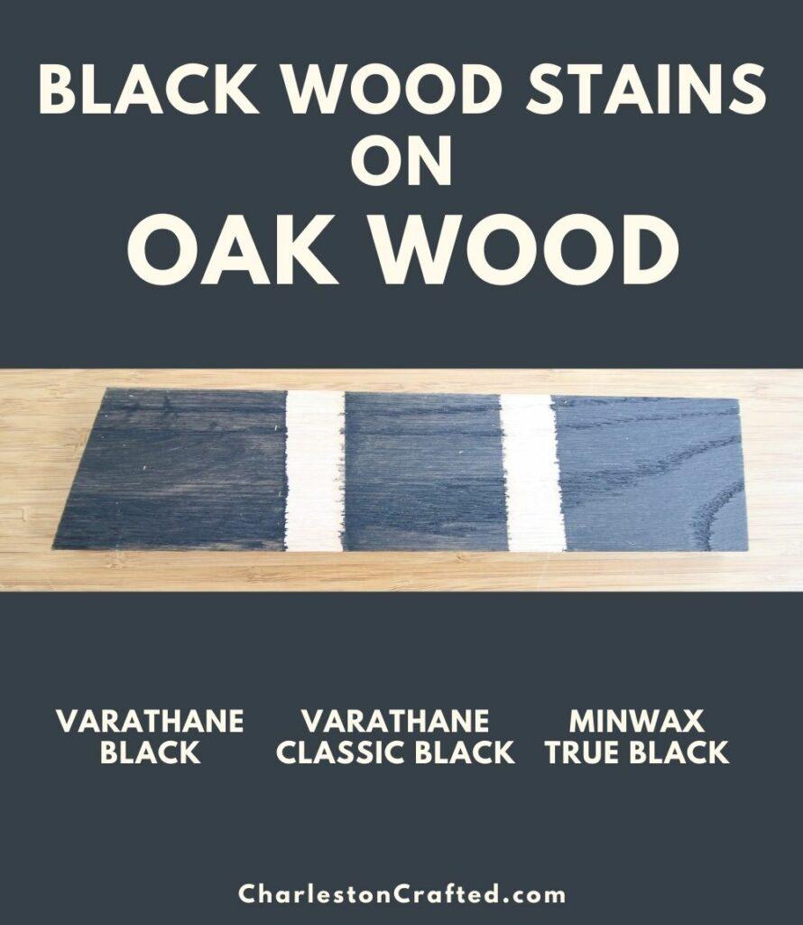 black wood stain oak wood pin
