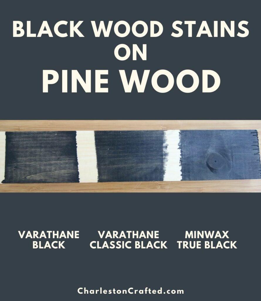 black wood stain pine wood pin