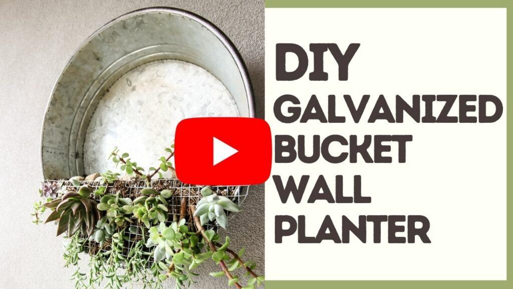 galvanized planter YouTube Thumbnail blog
