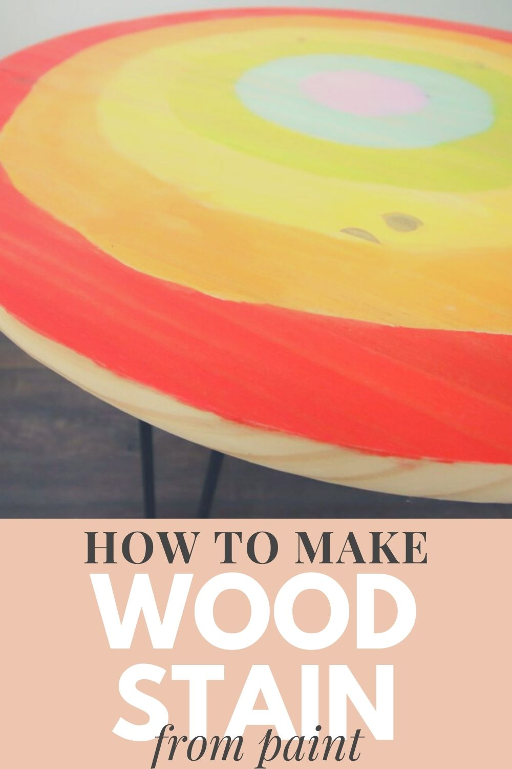 how to make wood stain from paint