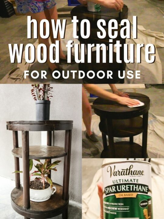 how to seal wood furniture for outdoor use