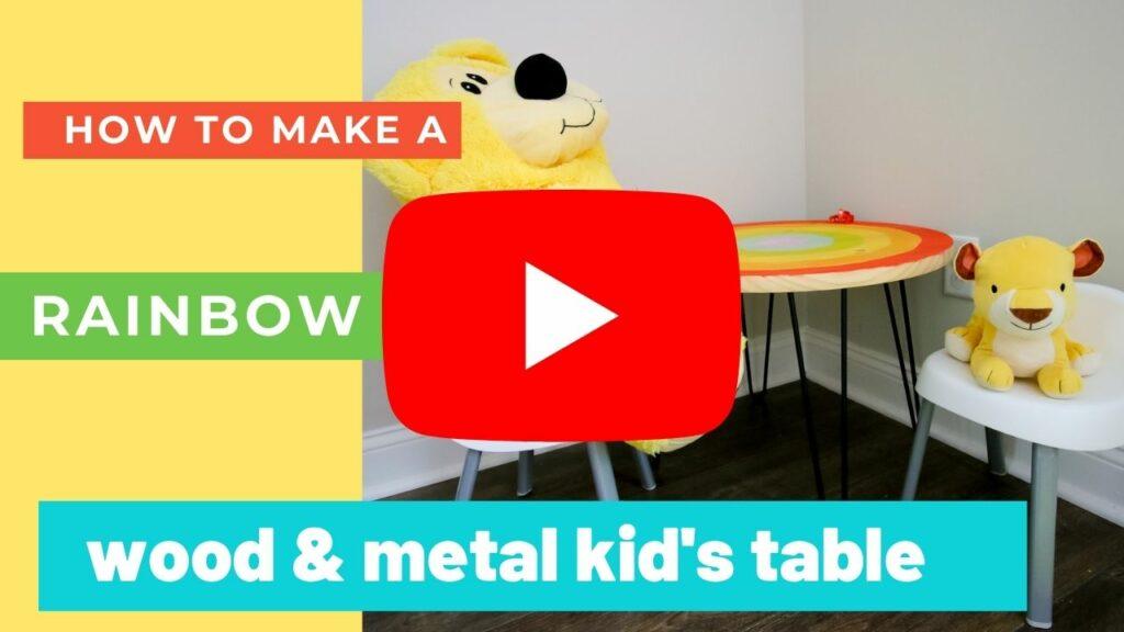 rainbow kids table YouTube Thumbnail for blog