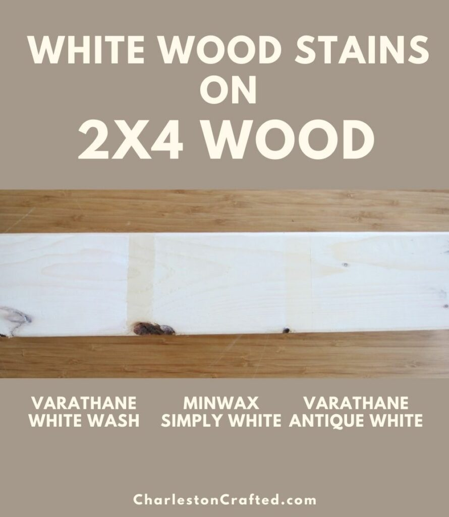 3 white wood stain 2x4 wood pin