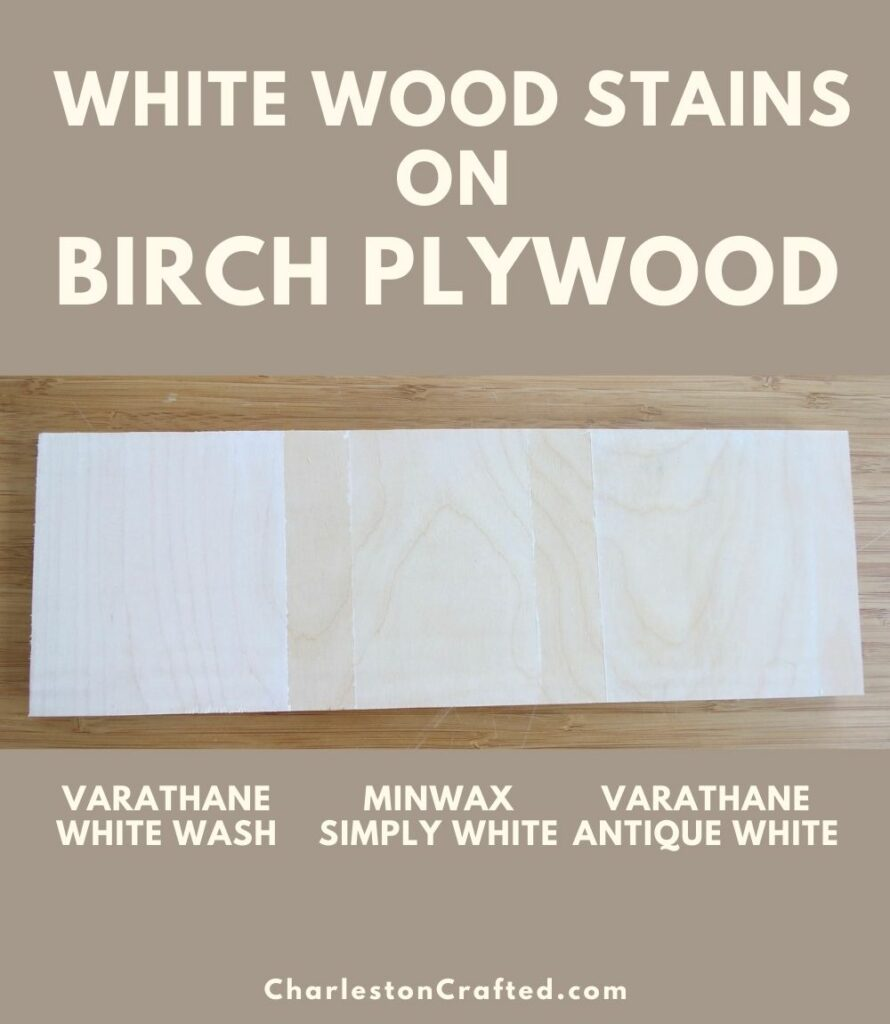 3 white wood stain birch plywood pin