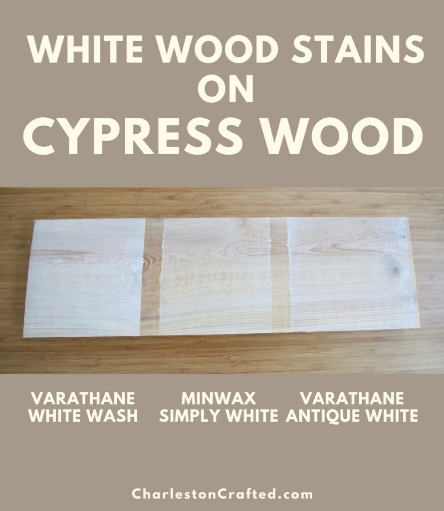 3 white wood stain cypress pin