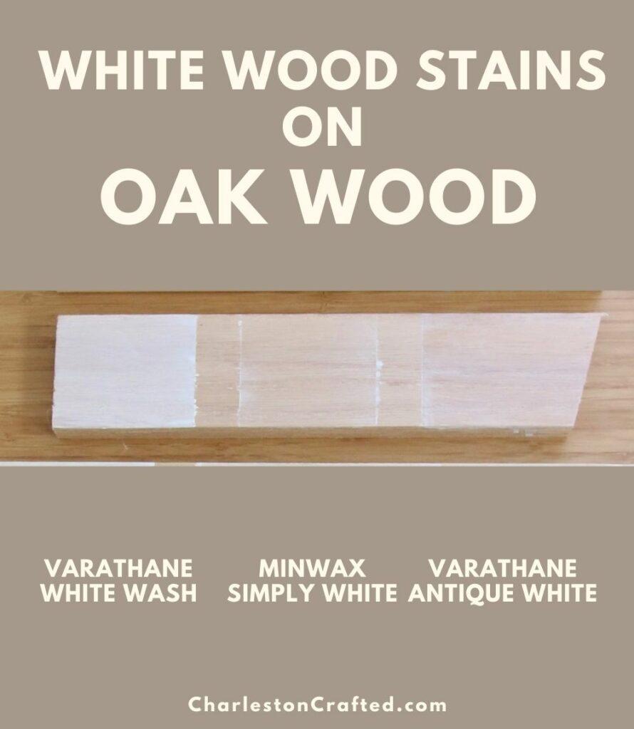 3 white wood stain oak wood pin