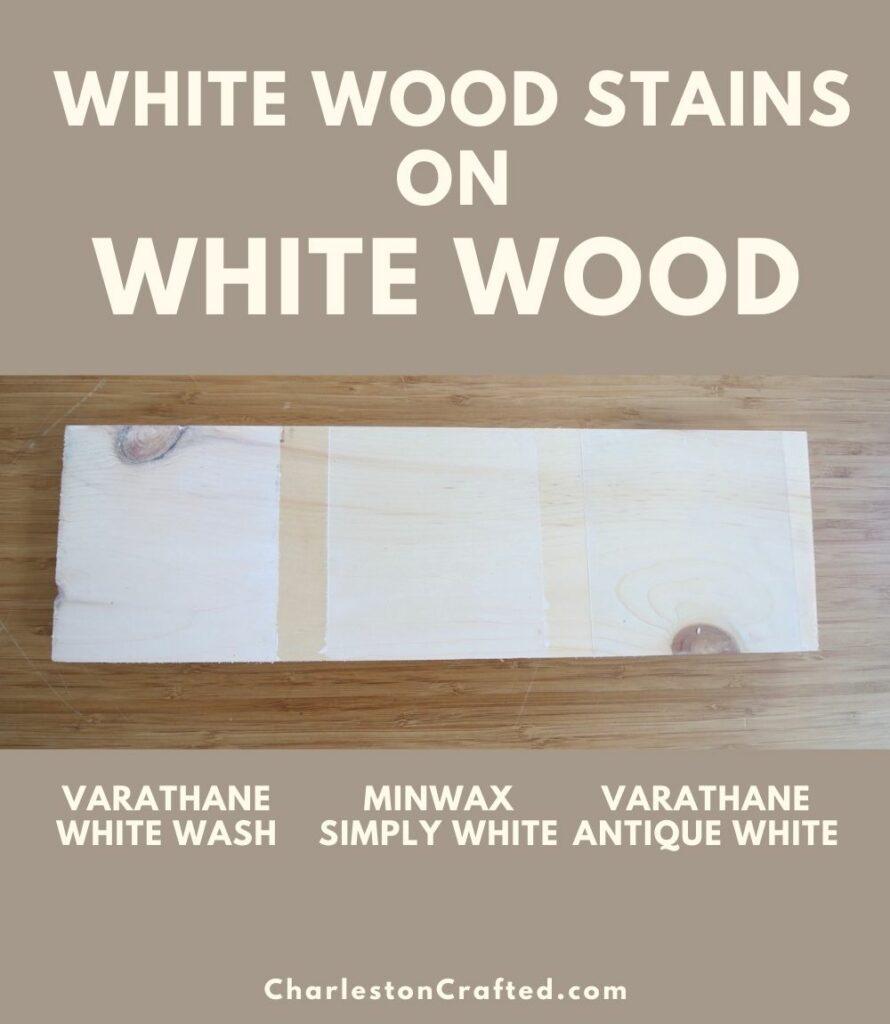 3 white wood stain white wood pin