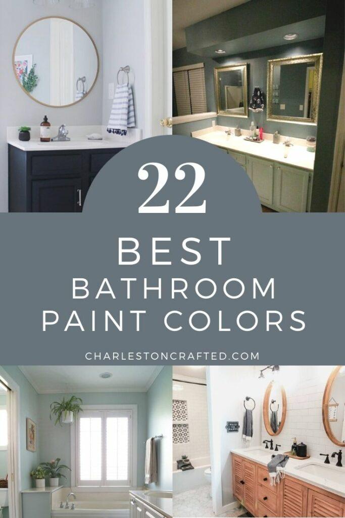 22 best bathroom paint colors