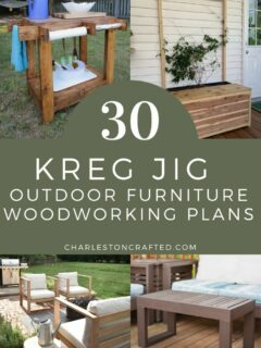30 kreg jig outdoor furniture project ideas