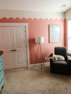 pink scalloped nursery