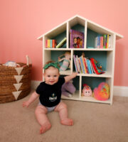 How to build a DIY dollhouse bookshelf