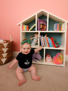 How to build a DIY dollhouse bookshelf - Charleston Crafted