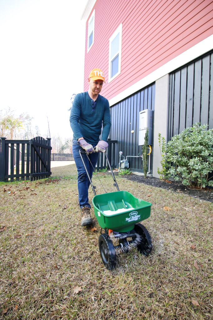 Apply to a dry lawn