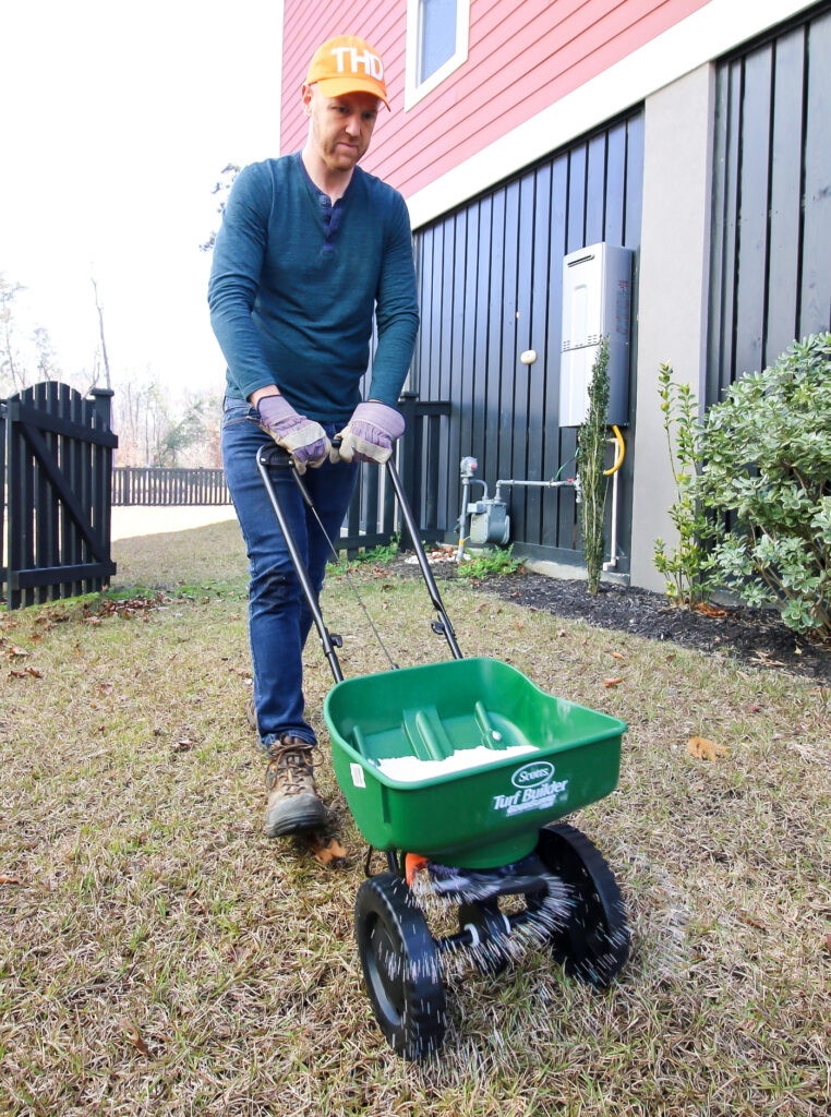 Apply ultrafeed to a dry lawn