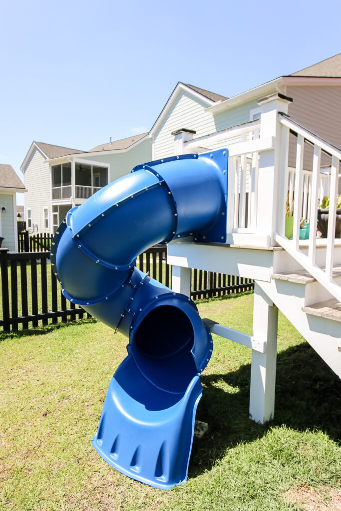How to add a slide to a backyard deck - Charleston Crafted