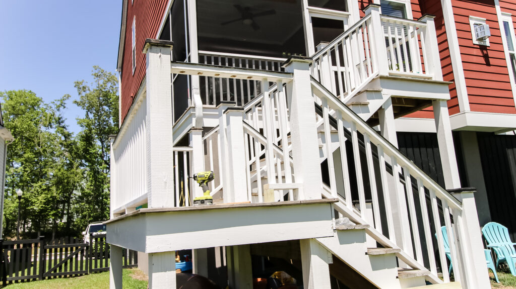 Deck after removing balusters
