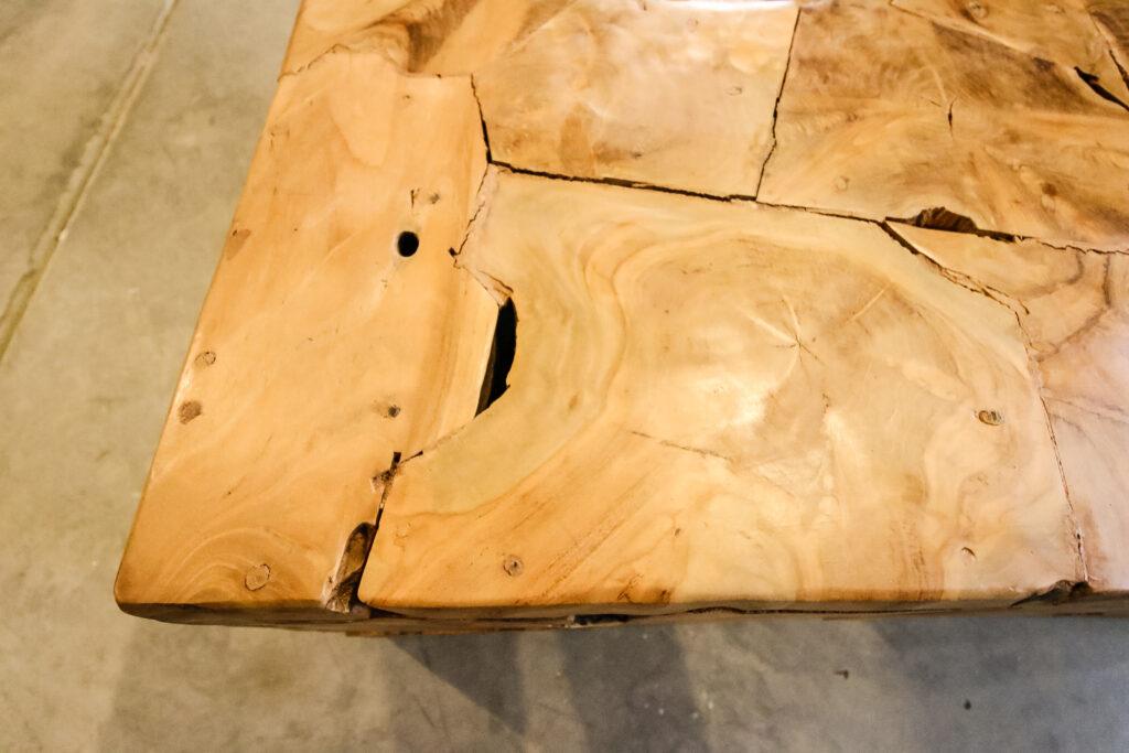 damaged wood filler crack