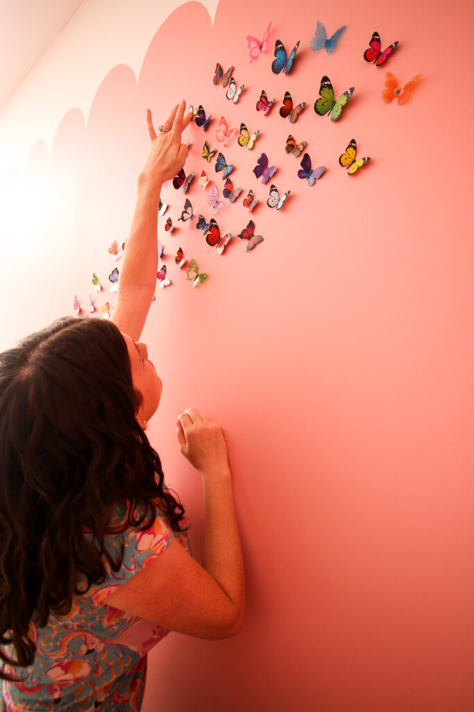 how to hang butterflies on the wall