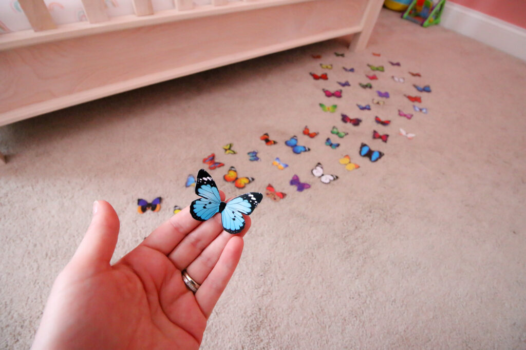 how to arrange butterflies on the wall