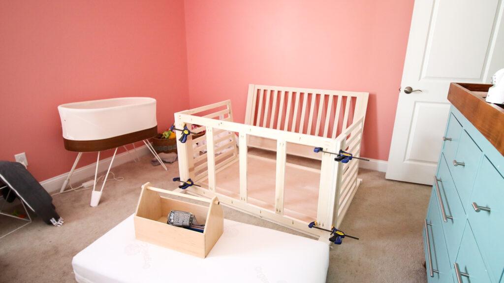 Assembling DIY crib