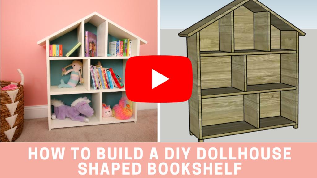 YouTube video link for dollhouse bookshelf