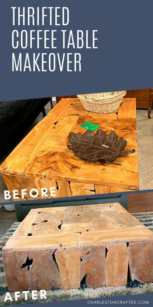 before after coffee table