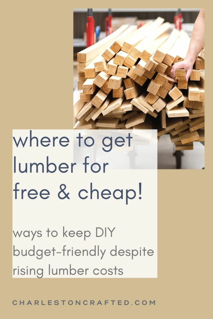 where to get lumber fro free and cheap
