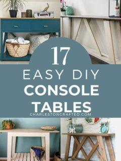 17 easy diy console tables