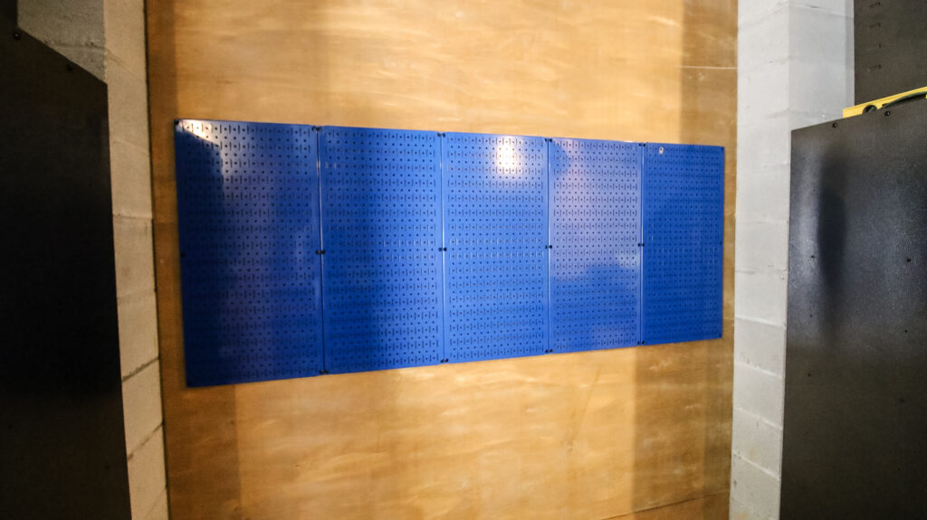 Wall Control panels in workshop