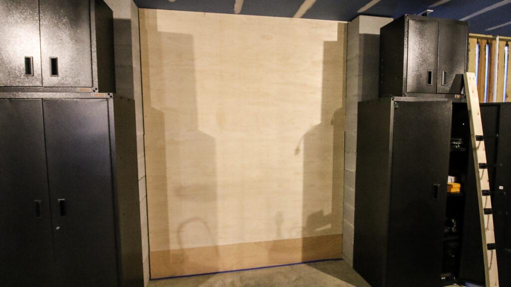 Plywood between columns
