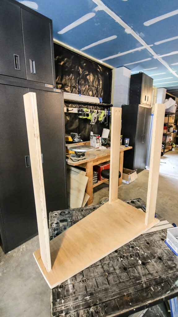 Adding legs to scroll saw stand